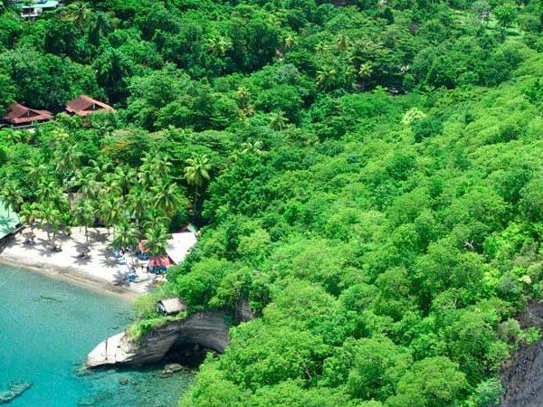 Beach aerial Anse Chastanet