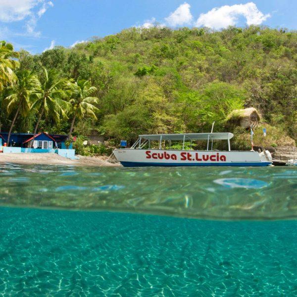 Dive Boat at Scuba St Lucia