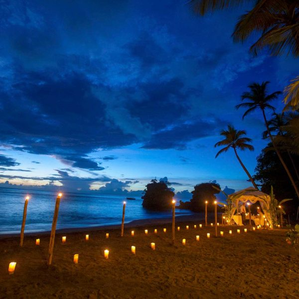 Beach Dining at Anse Chastanet St Lucia