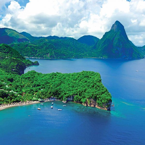 St. Lucia view of Pitons