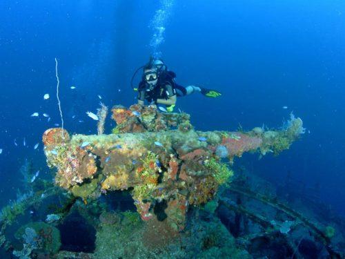 Wrecks in Truk Lagoon - image by Rick Heydel