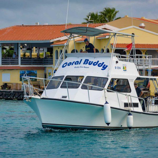 Boat diving at Buddy Dive Resort Bonaire