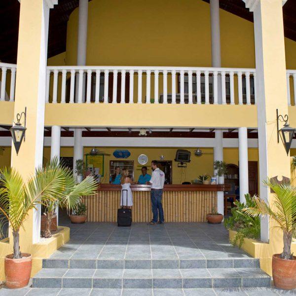 Buddy Dive Resort front desk