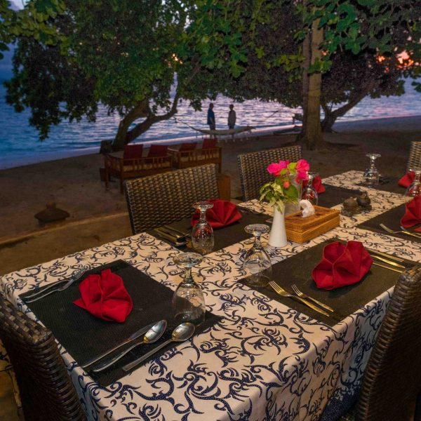 Murex Resort Bangka outdoor dining