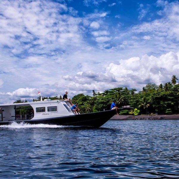 Murex Resort Manado boat